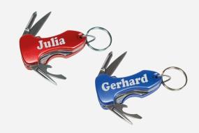 Schlüsselanhänger Multitool mit individueller Namensgravur