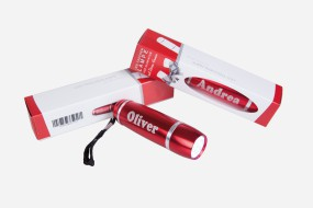 LED Taschenlampe mit individueller Namensgravur